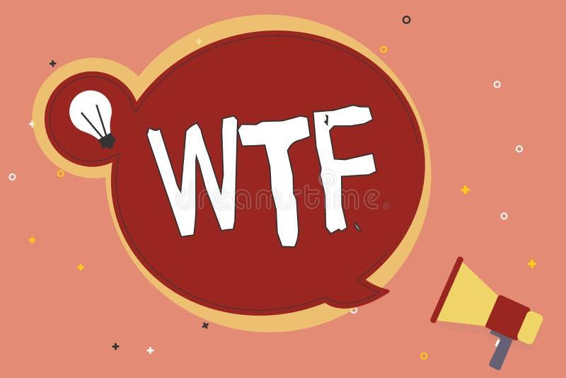 词文字文本Wtf 进攻俗话书面简称的企业概念对于展示意外和惊讶 皇族释放例证