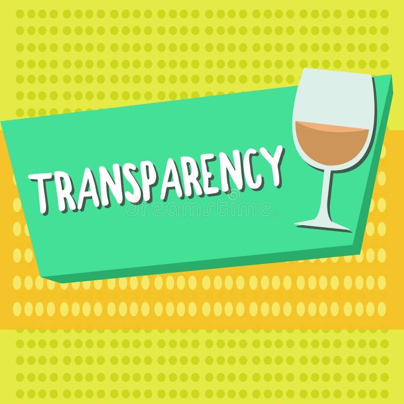 词文字正文透明性 的情况的企业概念透明清楚明显显然透亮 向量例证