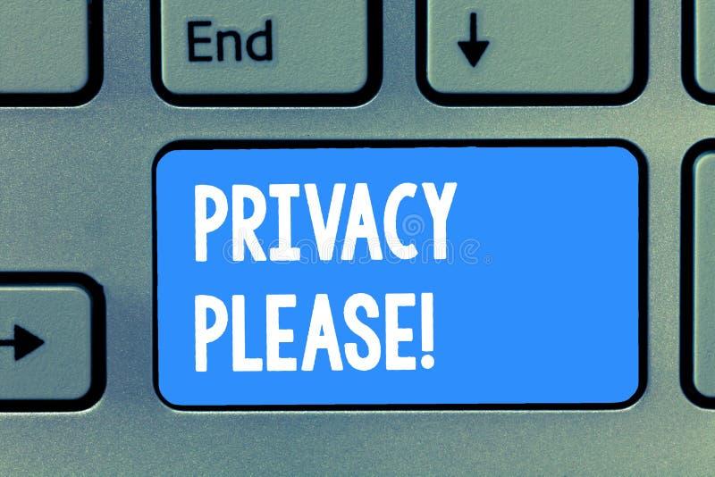 词文字请文本保密性 要求的某人不管企业概念尊敬您的个人空间 免版税库存照片