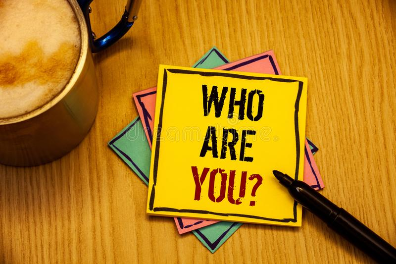 词是您问题的文字文本 Introduce的企业概念或自认讲您的个人故事 图库摄影