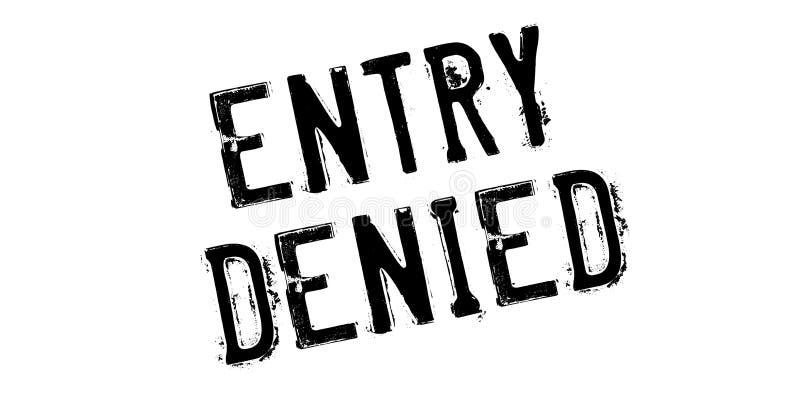 词条被否认的不加考虑表赞同的人 库存例证