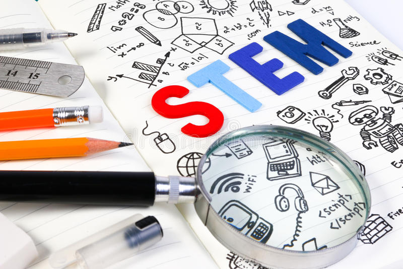 词根教育 科学技术工程学数学 免版税库存照片