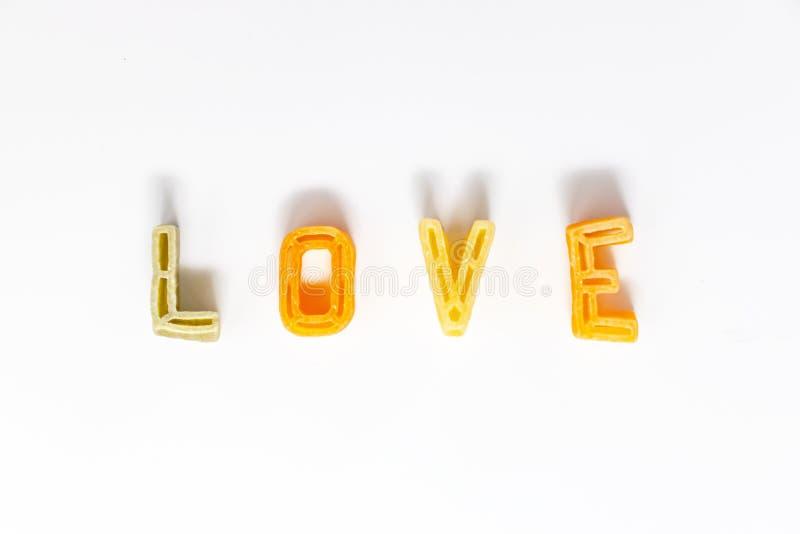 词爱由字母表面团组成 库存照片