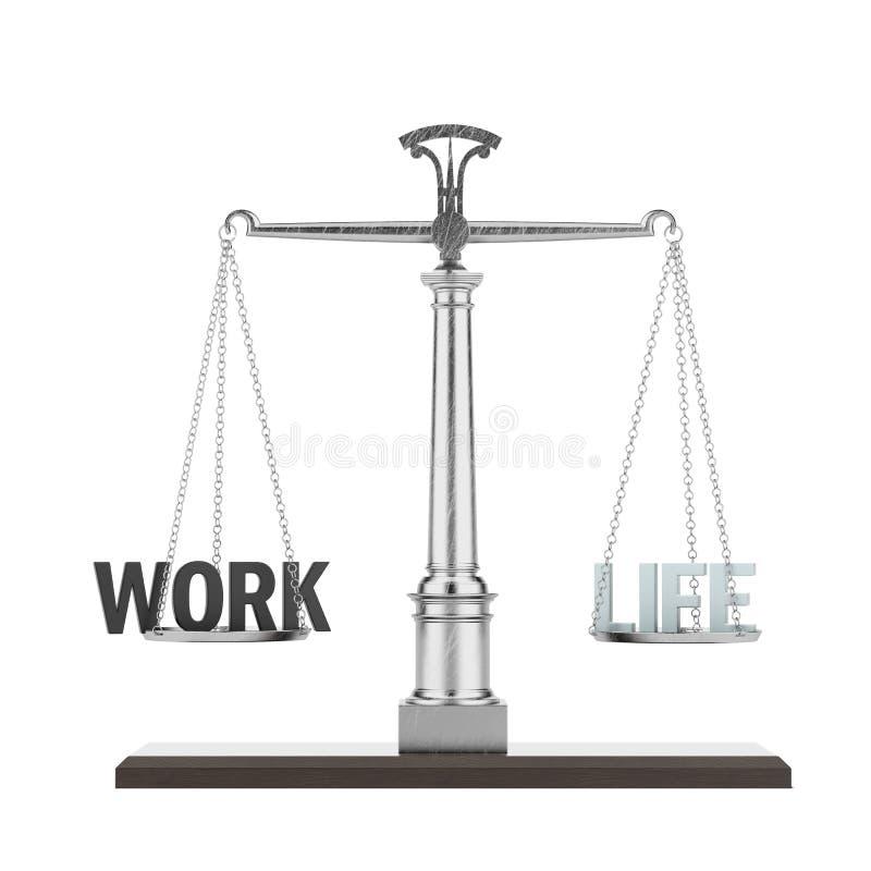 词生活和工作在等级 库存例证