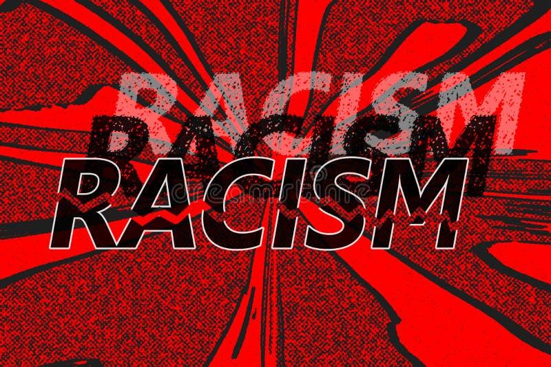 词种族主义用不同的树荫 库存例证