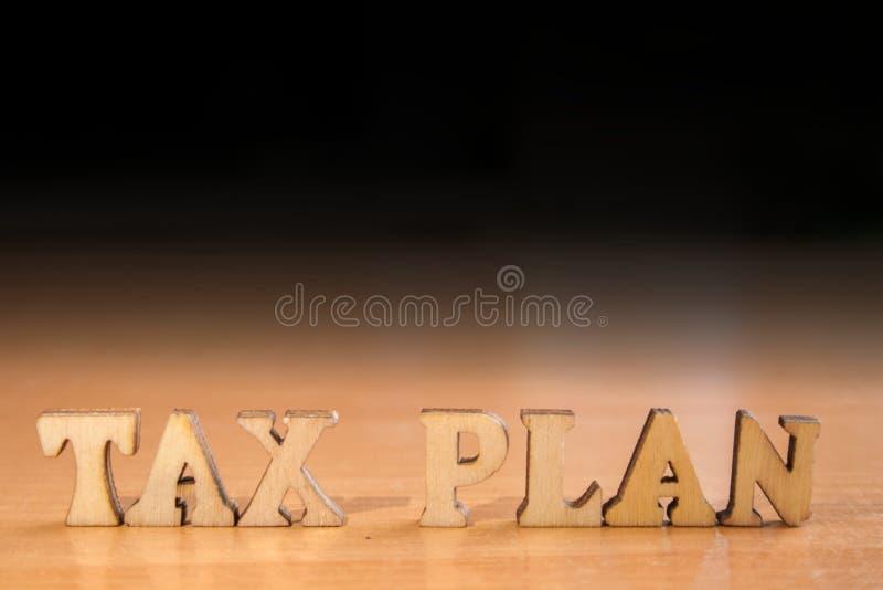 词税收计划 库存照片