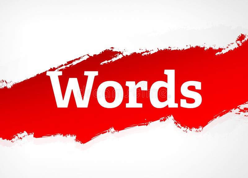 词红色刷子摘要背景例证 向量例证