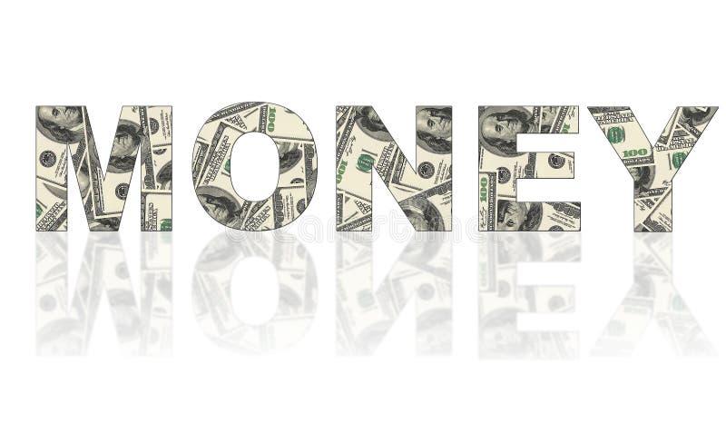 词金钱由美元做成 皇族释放例证