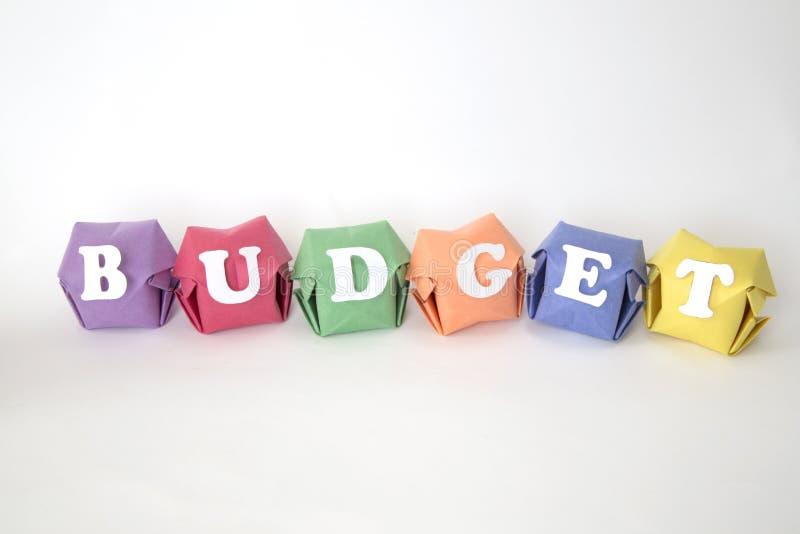 词预算 库存照片