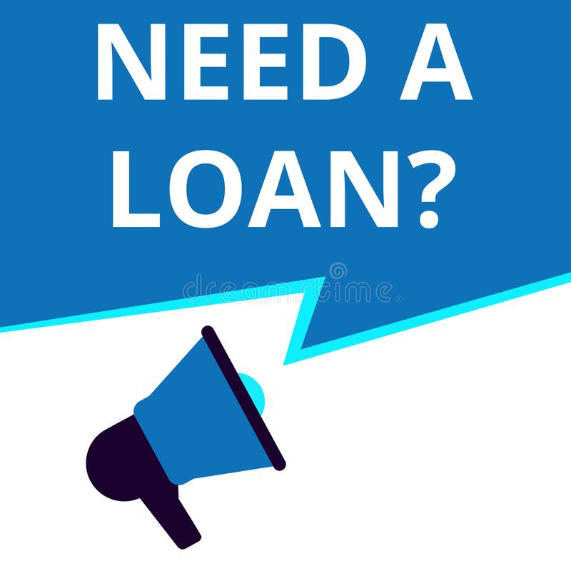 词,写需要贷款问题 向量例证