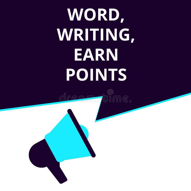 词,文字,文本赢得点 向量例证