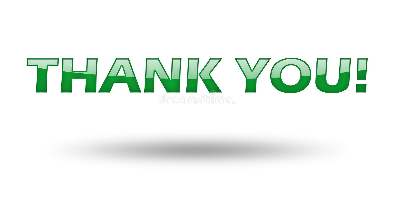 词组感谢您有绿色信件和阴影的 皇族释放例证