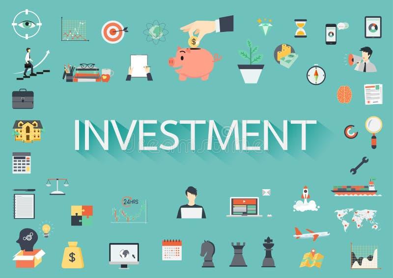 词围拢通过有关的投资平的象 库存例证