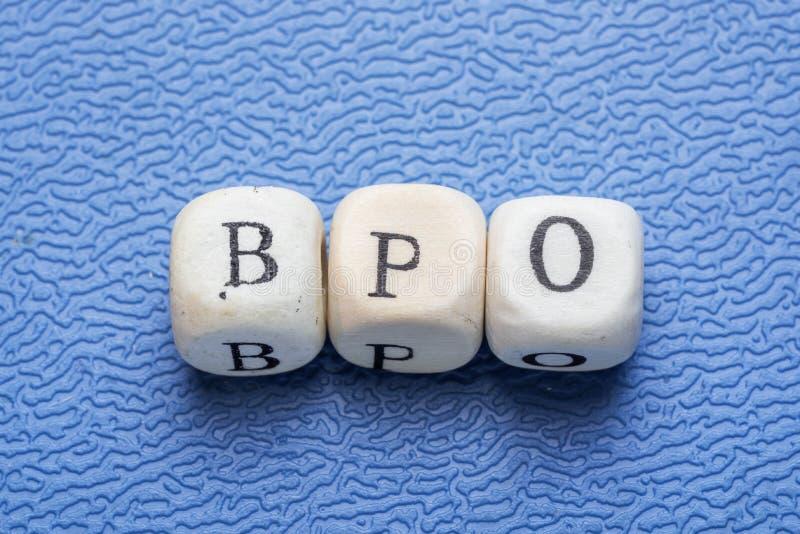 词bpo 免版税库存照片