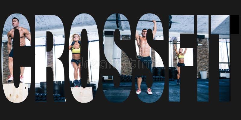 以词crossfit的形式,炫耀照片 免版税图库摄影