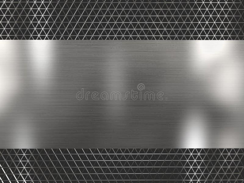 翻译银色金属栅格背景 免版税库存照片