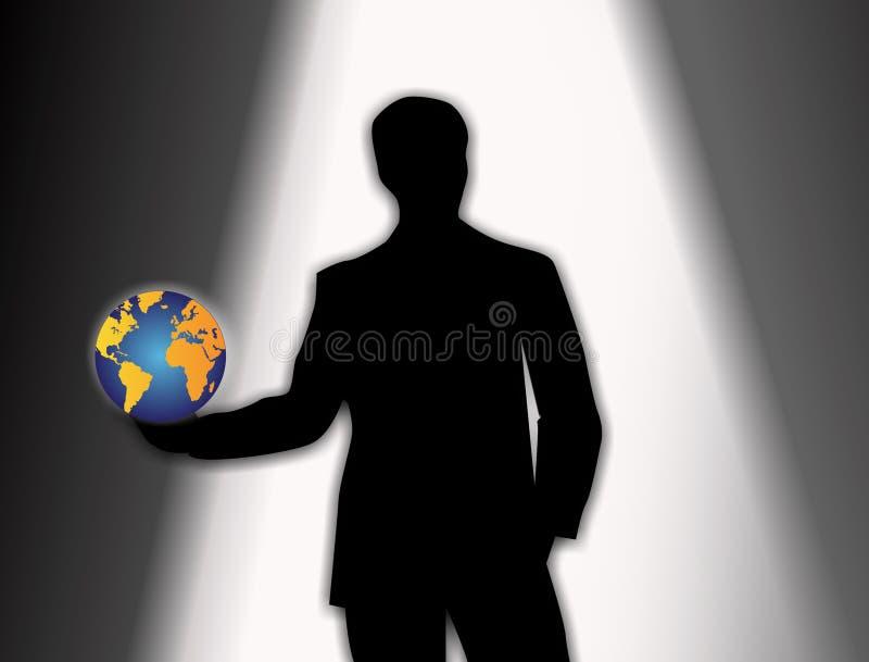 试演企业新的角色世界 库存例证