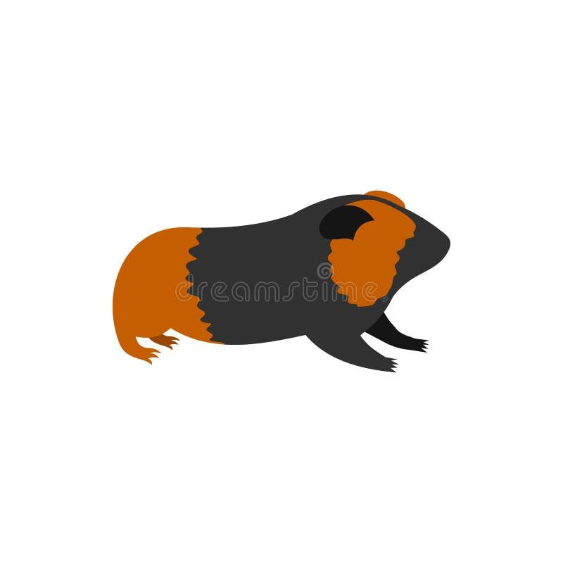 试验品,在平的样式的豚鼠象 库存例证
