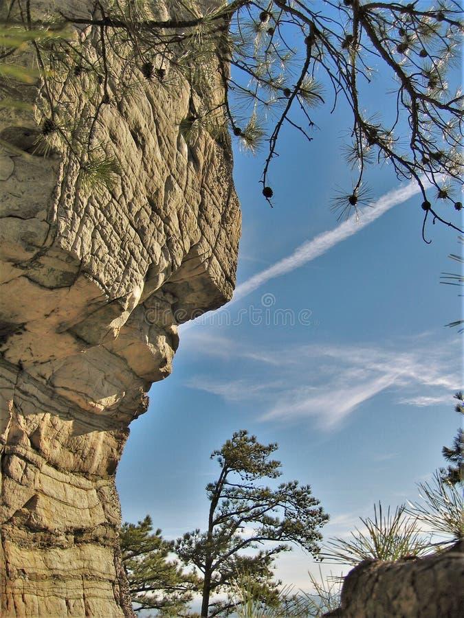 试验山国家公园岩石墙壁 免版税库存图片