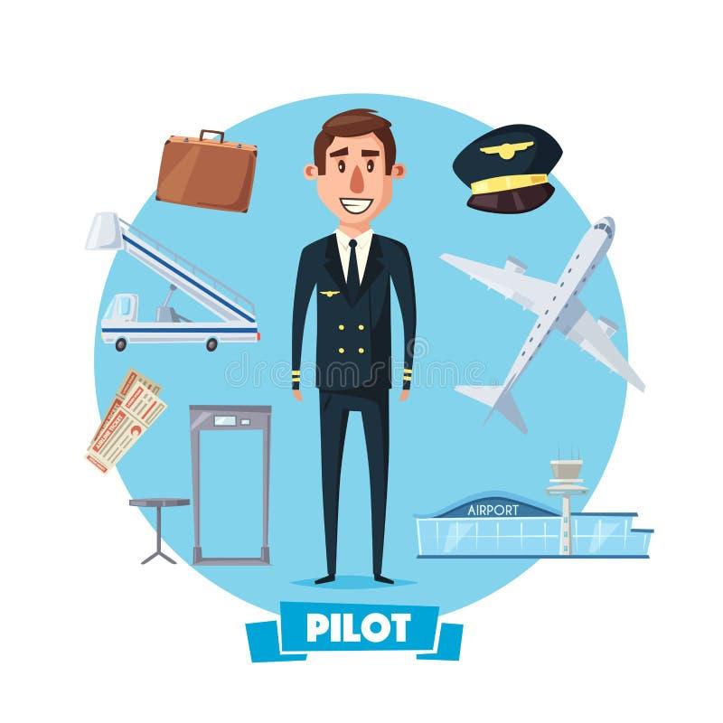 试验行业人和传染媒介飞行项目 皇族释放例证