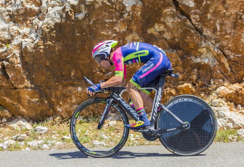 试验1月Polanc,单独时间-环法自行车赛2016年 免版税库存图片