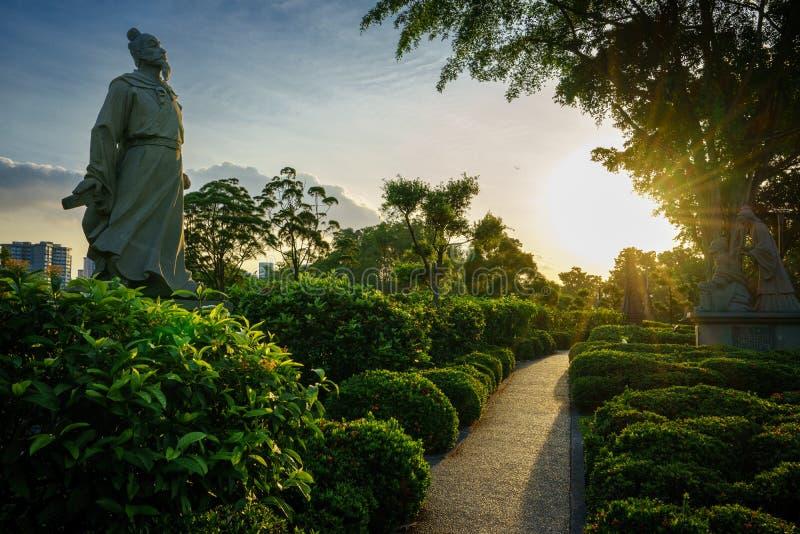 诗人,中国庭院,新加坡道路  免版税图库摄影