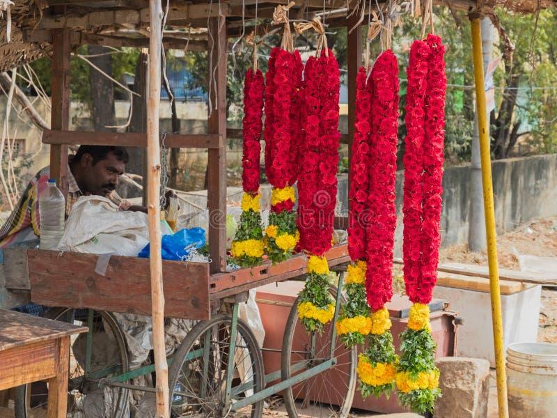 诗歌选在印地安市场上 库存图片
