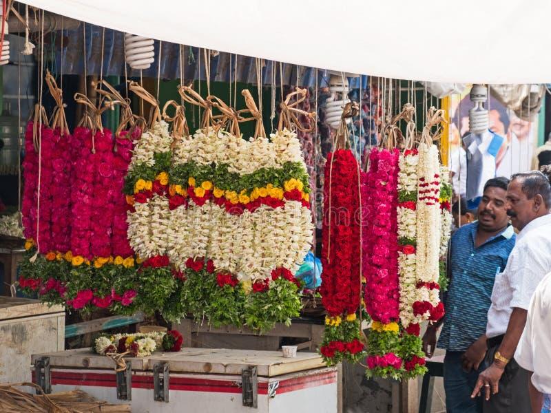 诗歌选待售在印地安市场 库存照片