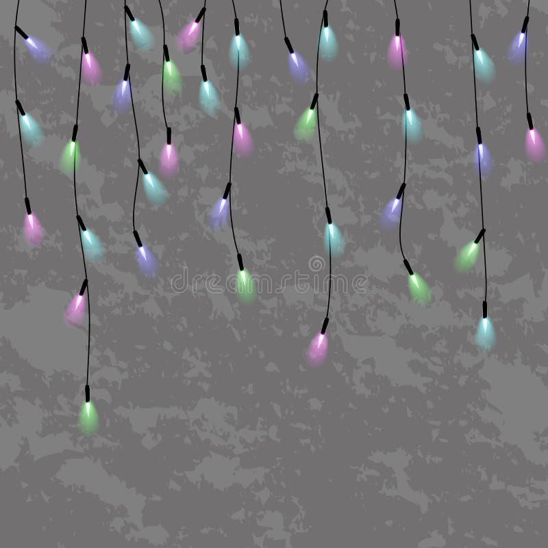 诗歌选,圣诞节装饰光线影响 皇族释放例证