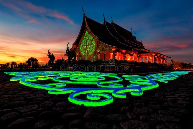 诗琳通Wararam Phu Prao寺庙Wat Phu Prao,未看见的Te 免版税库存照片