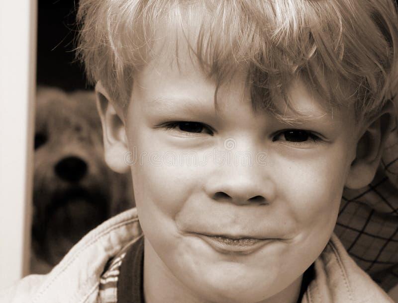 诙谐的男孩 免版税图库摄影