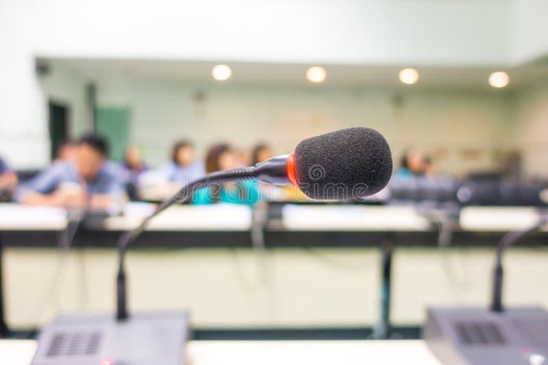 黑话筒在会议室(被过滤的图象被处理的v 图库摄影