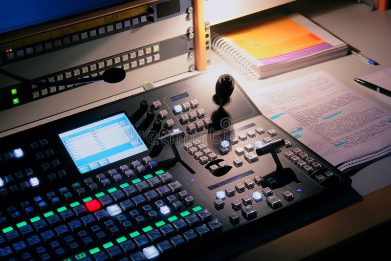 话筒工作室电视 库存图片