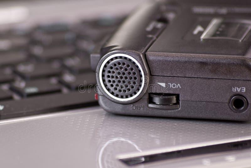 话筒微型记录员磁带 库存照片
