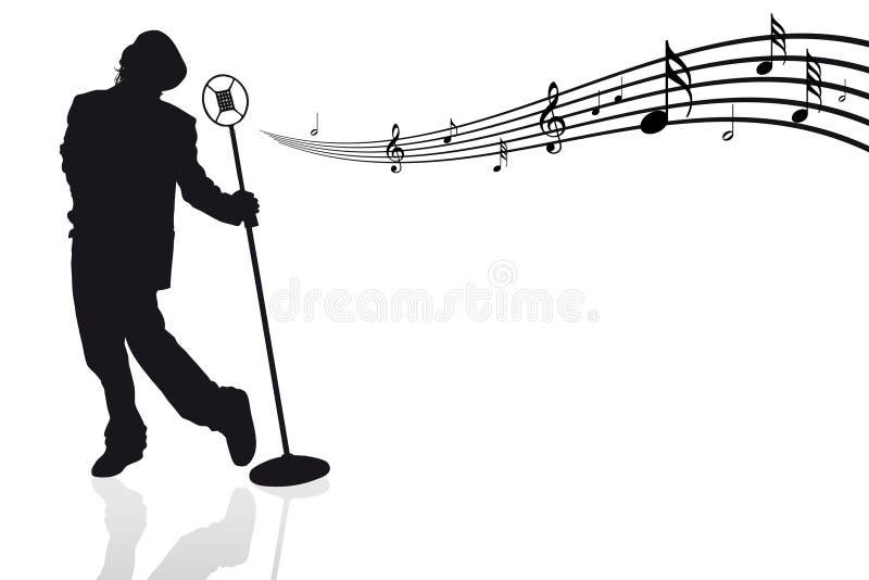 话筒音符歌唱家 皇族释放例证