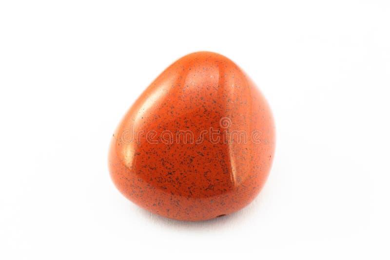 诞生碧玉红色石头 库存照片