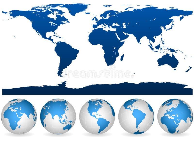 详细地球概述世界 皇族释放例证