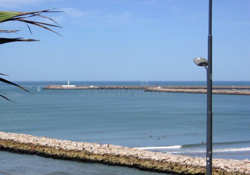 详细市的南部的防堤的基督马德普拉塔布宜诺斯艾利斯Argentin 免版税库存图片