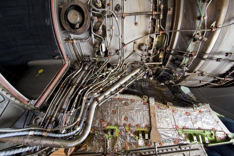 详细引擎风险喷气机涡轮 免版税库存照片