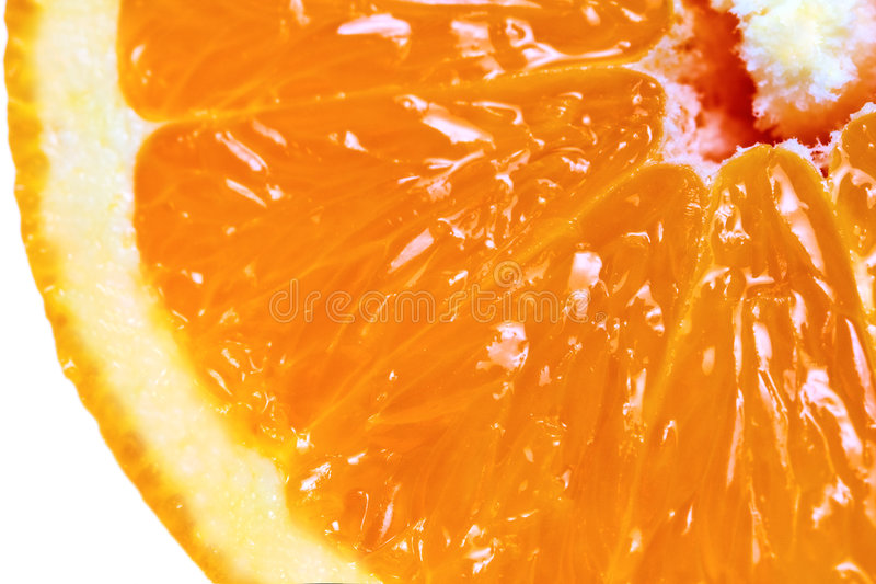 详细果子宏观橙色被切的视图 图库摄影