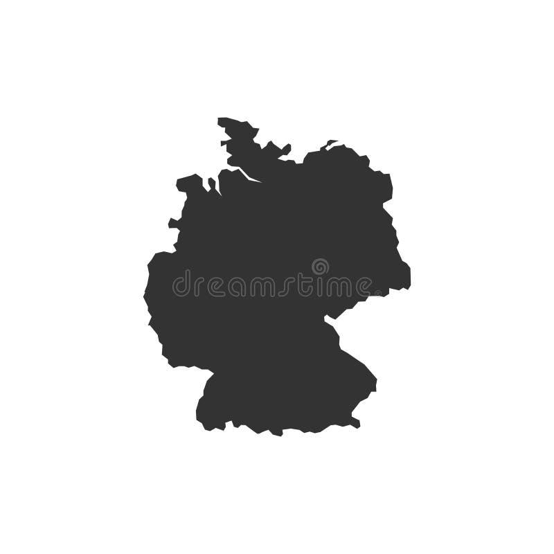 详细的传染媒介地图-德国-传染媒介 库存例证