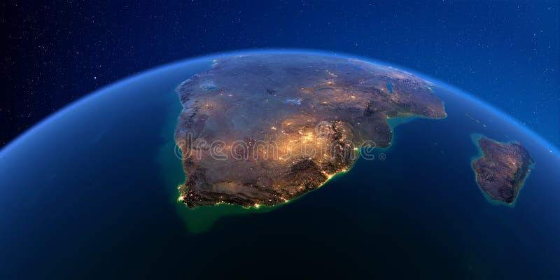 详细的地球在晚上 ?? 向量例证