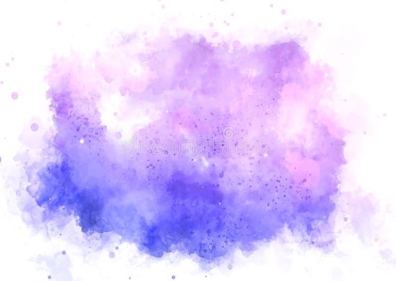 与明亮的蓝色和桃红色油漆污点的抽象绘画.图片