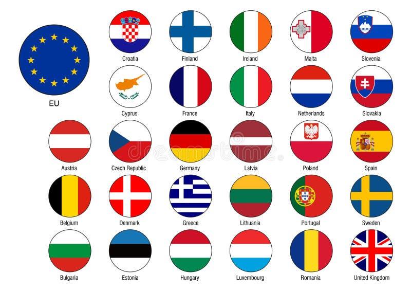 详细的欧盟下垂传染媒介 向量例证