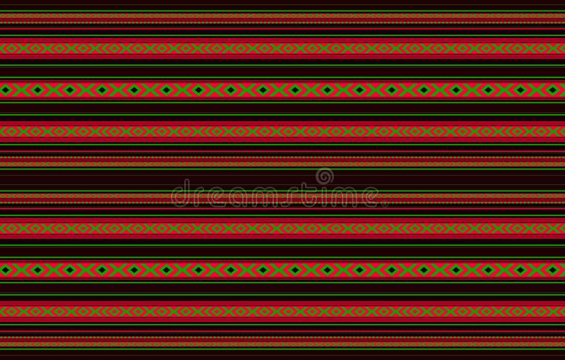 详细的水平的传统被手工造的黑Sadu地毯 皇族释放例证