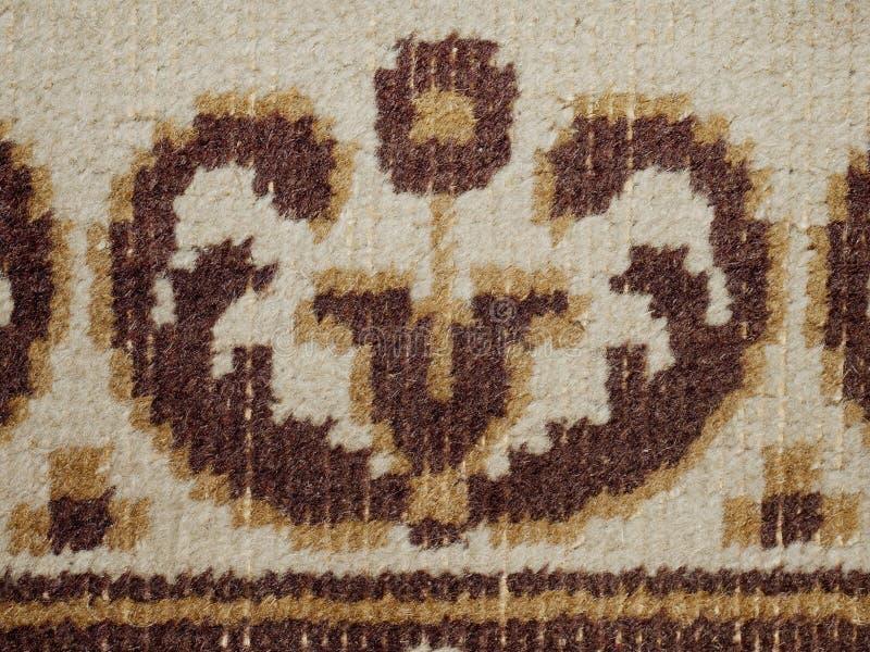 详细老破旧的地毯 纹理编织 免版税库存照片
