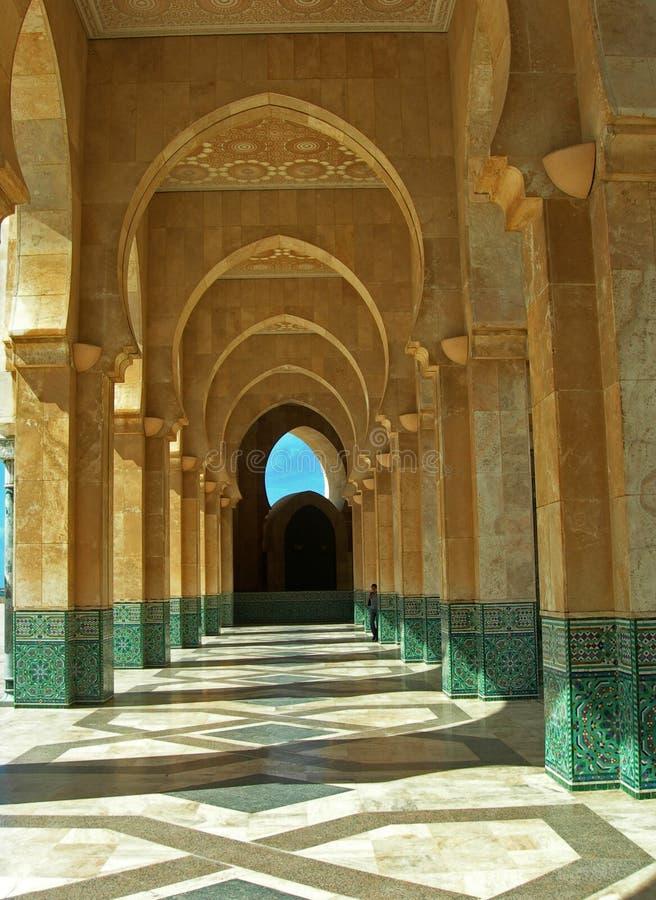 详细资料哈桑ii清真寺 免版税库存照片