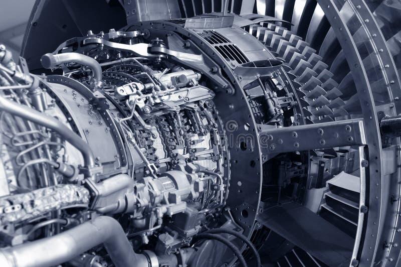详细资料引擎喷气机 免版税库存照片