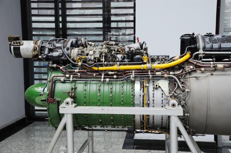 详细资料引擎涡轮喷气 库存照片