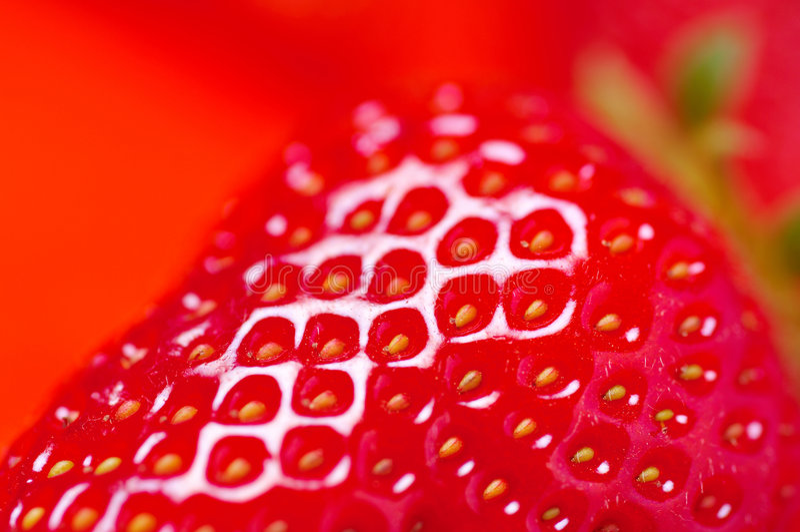 详细资料新鲜的草莓 免版税图库摄影